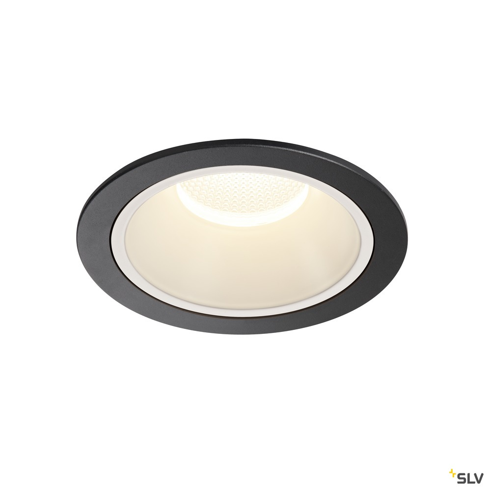 NUMINOS® DL XL, Indoor LED Deckeneinbauleuchte schwarz/weiß 4000K 55°