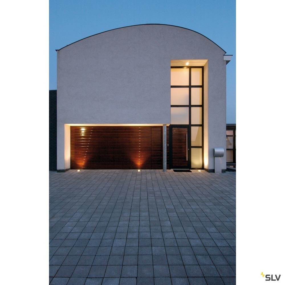 ADJUST 135, Outdoor Bodeneinbauleuchte, QPAR51, IP67, eckig, edelstahl 304, Glas teilsatiniert, max. 35W
