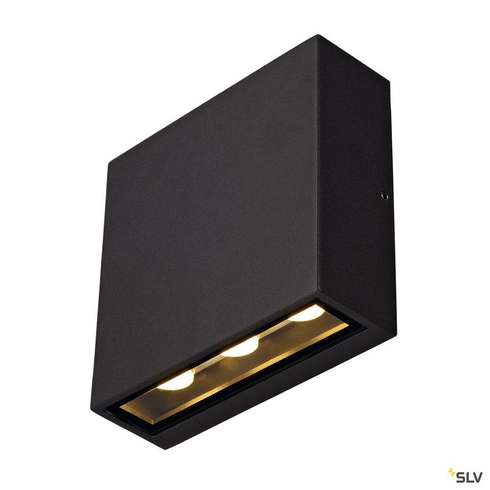 BIG QUAD, Wandleuchte, LED, 3000K, IP54, eckig, anthrazit, 8,75W