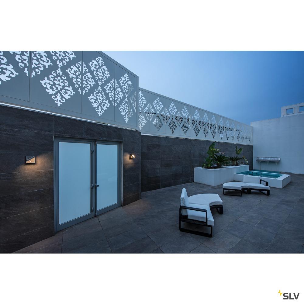 ABRIDOR SENSOR, Outdoor LED Wandaufbauleuchte IP55 anthrazit 3000/4000K