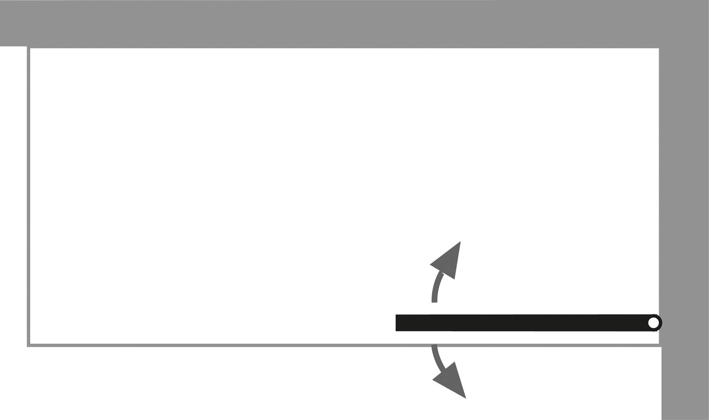 HSK Exklusiv Badewannenaufsatz, 1-teilig inkl. Handtuchhalter (Chrom) Rechts Weiß Mattglas (sandgestrahlt) ohne Beschichtung exkl. Aufmaßservice