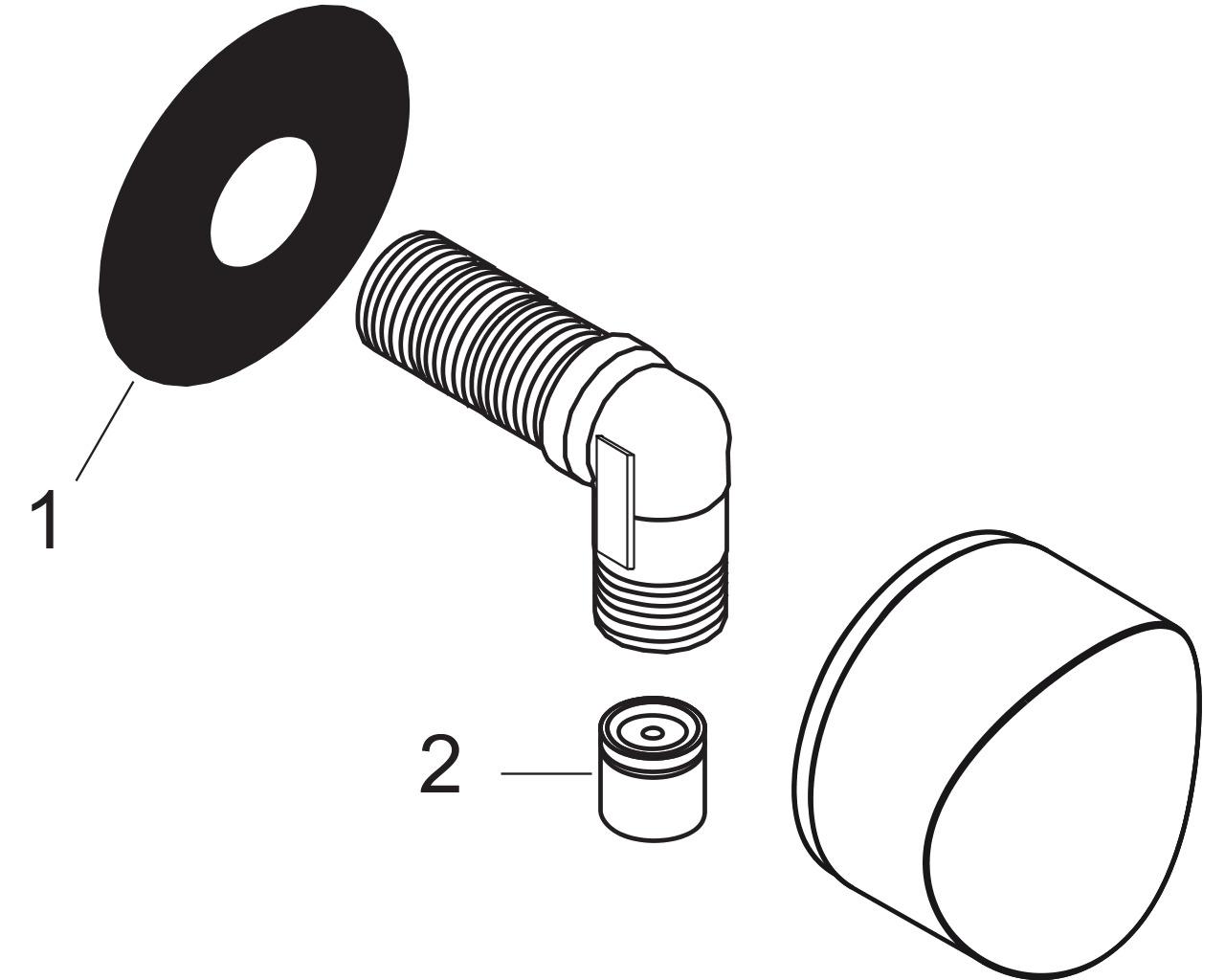 HG Schlauchanschluss DN15 Fixfit S mit Rückflussverhinderer mattweiss