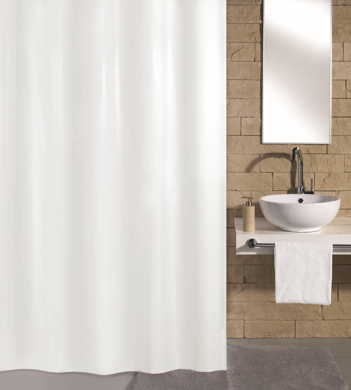Duschvorhang Kito 100 % Polyester Nebel 120x200 cm