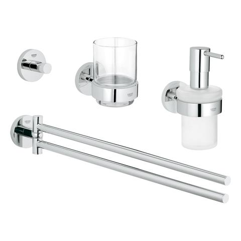 GROHE Waschtisch-Accessoire Set 4-in-1 Essentials 40846_1 chrom