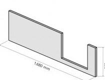 HSK DuschWanne Dobla Frontschürze, Einstieg links - B170