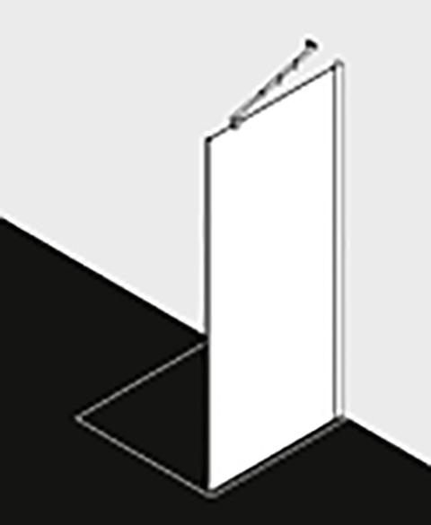 Kermi Seitenwand Filia XP TWD 0800x 1850 BV: 775-800 SIHG ESG klar Clean