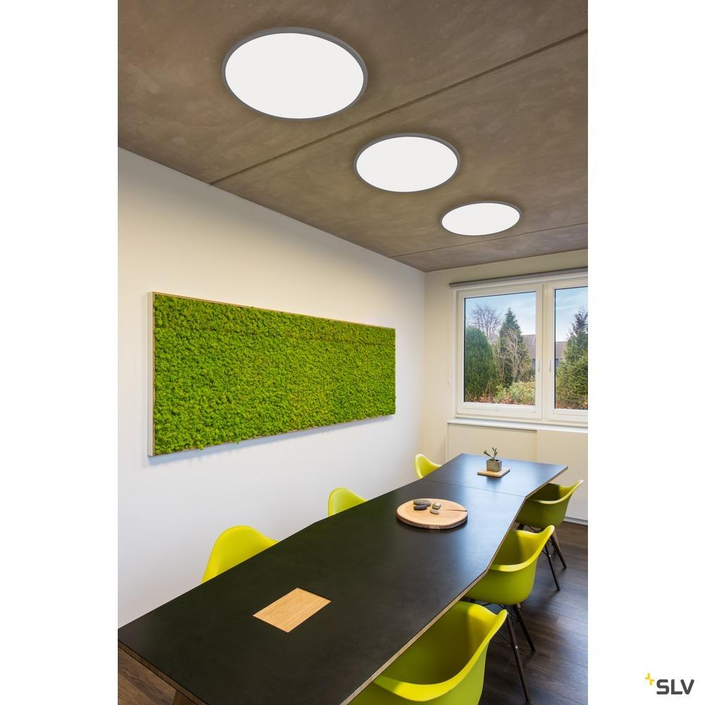 PANEL 60 rund, LED Indoor Deckenaufbauleuchte, silbergrau, 4000K weiß