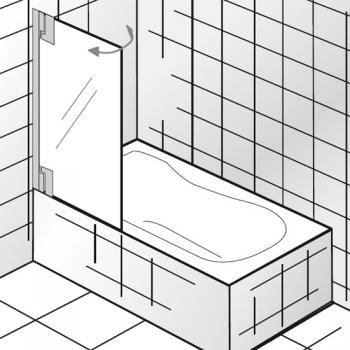 HSK K2P Badewannenaufsatz 1 bewegliches Element