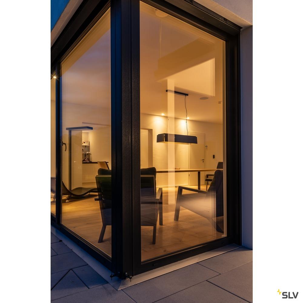 AVENTO 110 PD, LED Indoor Pendelleuchte, schwarz/gold, 3000K