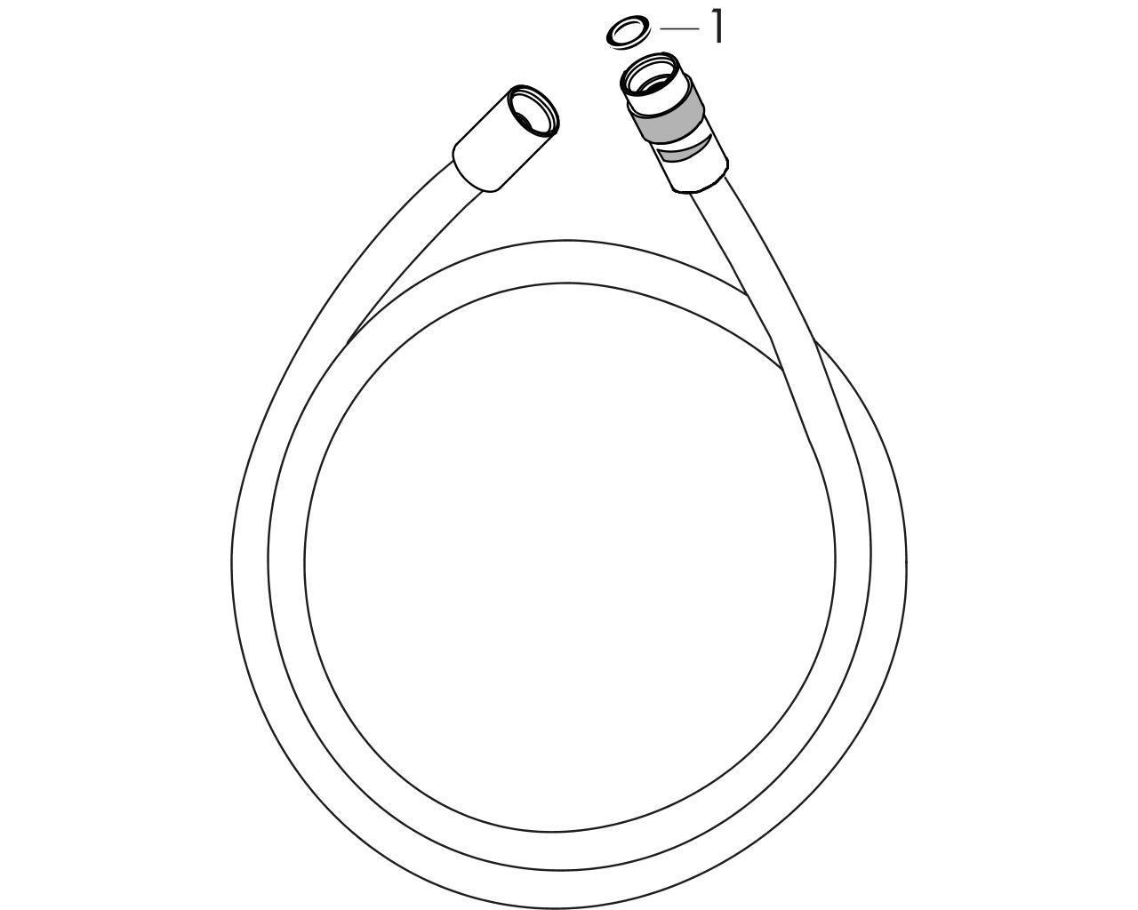 HG Brausenschlauch Isiflex 1250mm chrom mit Volumenkontrolle