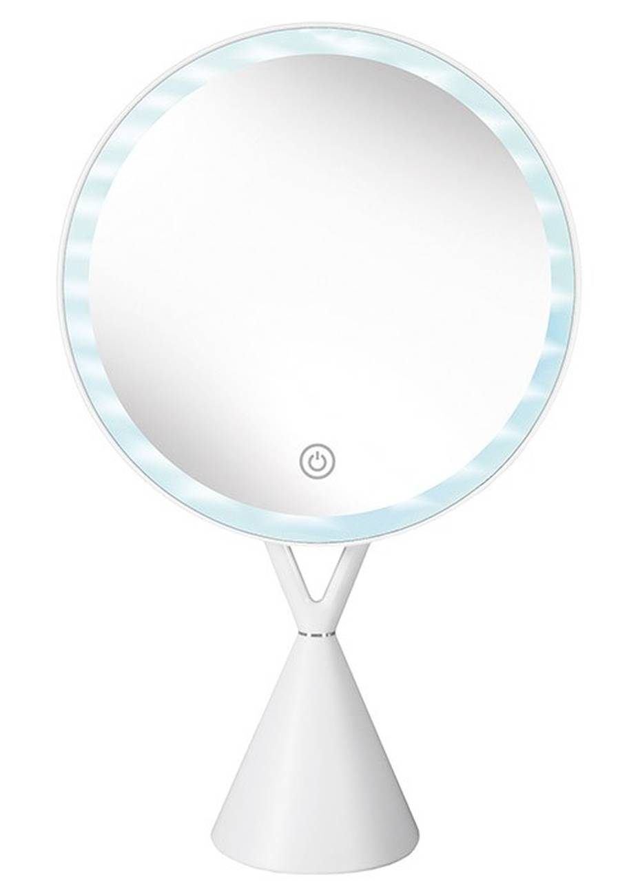 Kosmetikspiegel Lady Mirror ABS/Glas/LED Weiss Spiegel