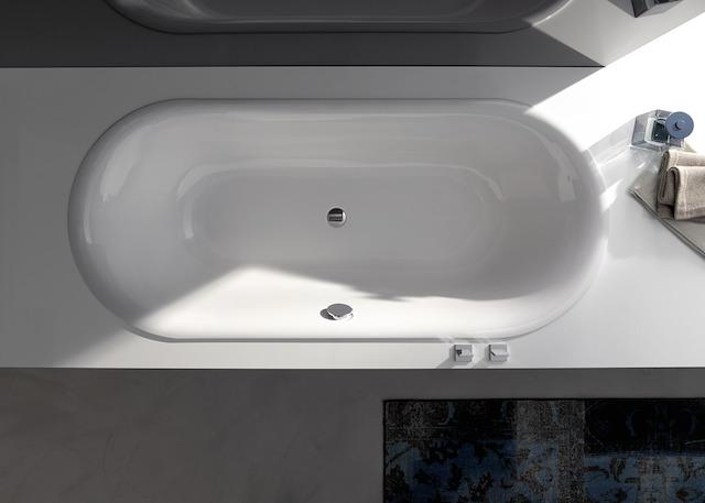Bette Lux Oval - 1900×900 mm Weiß exkl. Antirutsch inkl. Wannenträger