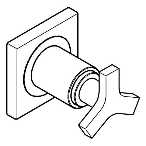 GROHE UP-Ventil Oberbau Allure 19334 ohne Unterputz-Einbaukörper chrom