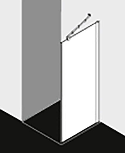 Kermi Seitenwand Diga TWD 0930x 1850 GAK: 890-910 WEI ESG Opaco