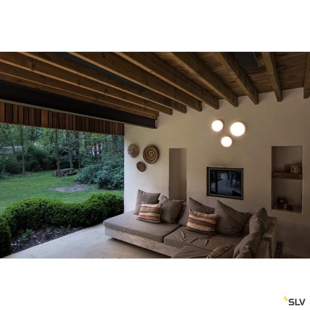 RUBA 20 CW, LED Outdoor Wand- und Deckenaufbauleuchte, weiß, IP65, 3000/4000K