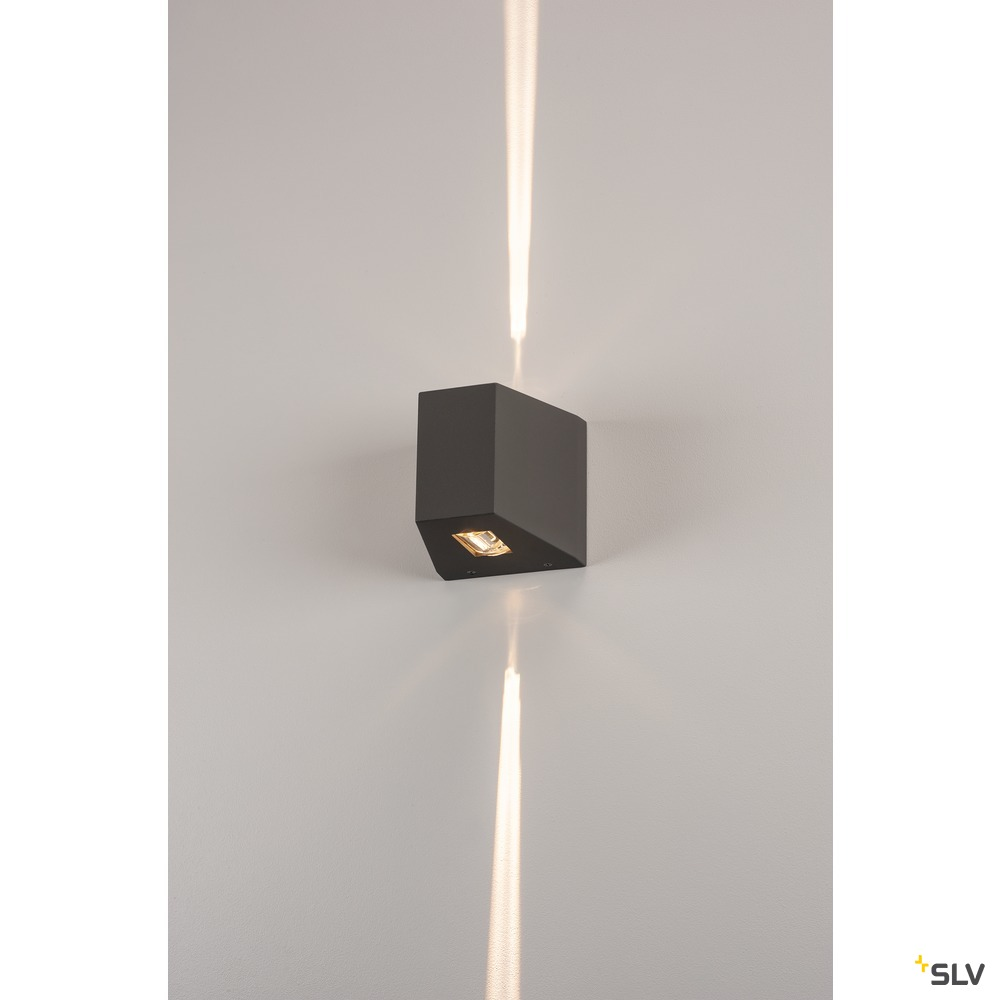 OUT-BEAM, Outdoor Wandleuchte, LED, 3000K, IP44, up/down, anthrazit, 15W