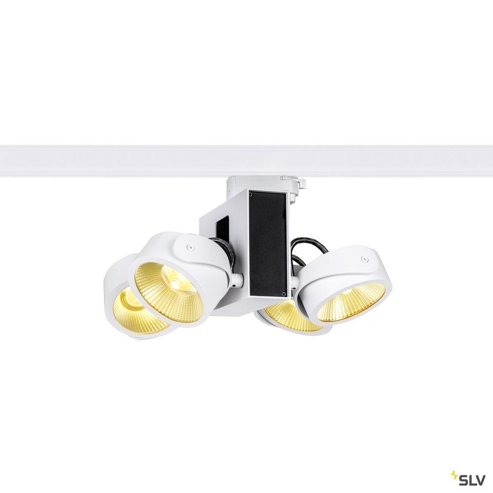 TEC KALU quad weiß/schwarz 24° 3000K, inkl. 3P.-Adapter