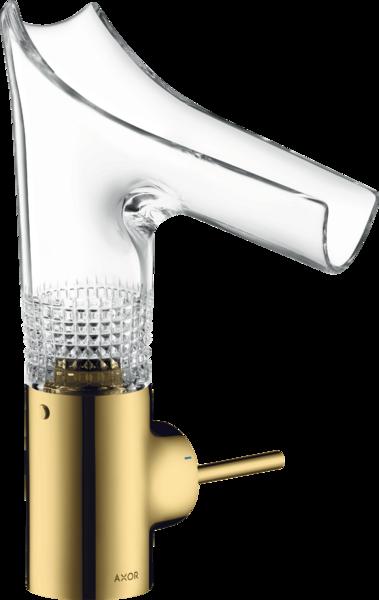 AXOR Starck V - Einhebel-Waschtischmischer 140 mit Glasauslauf und ohne Zugstange Chrom