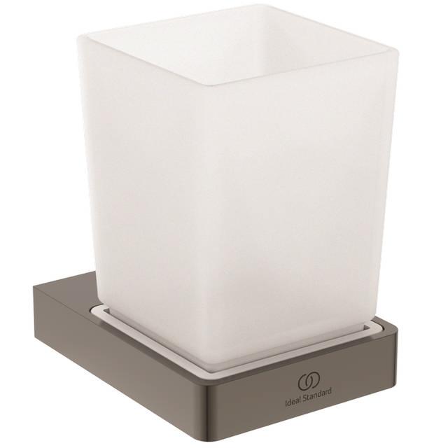 IS Mundglas Conca Cube eckig Magnetic grey