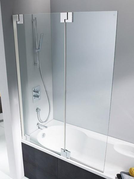 HSK K2P Badewannenaufsatz 2 bewegliche Elemente Links Mattglas (sandgestrahlt) mit Beschichtung exkl. Aufmaßservice