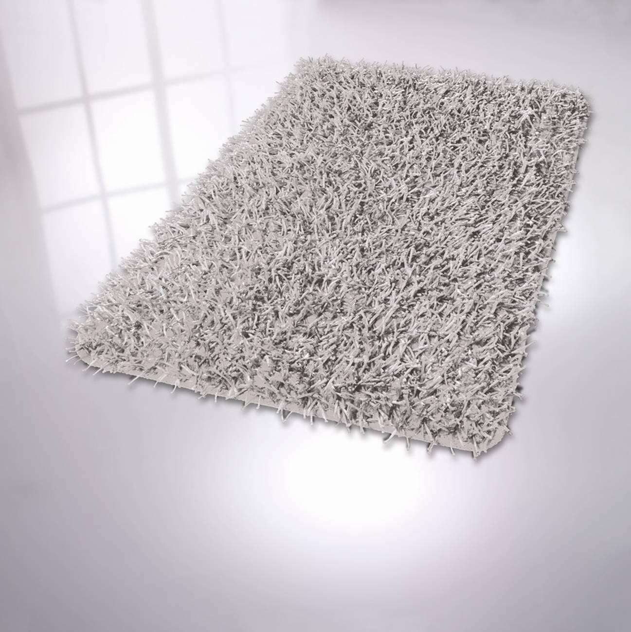 Badteppich Riva 75 % Polyester / 25 % Polyacryl Silbergrau 60x100 cm