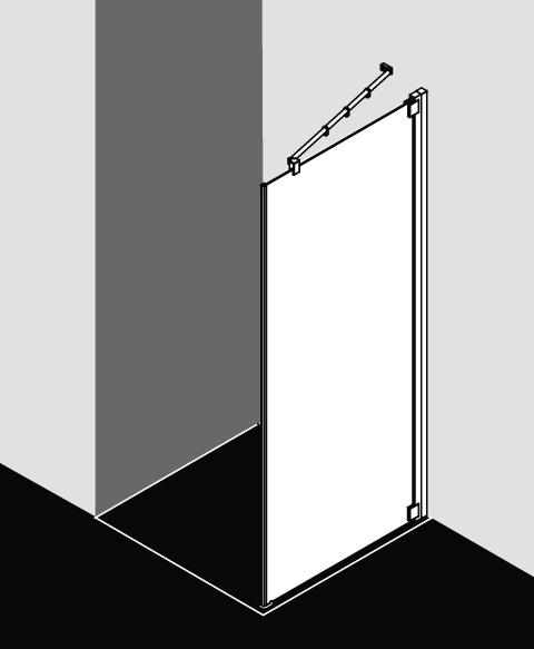 Kermi Seitenwand Raya TOR 1000x 1850 BV: 970-1000 SIMG ESG Opaco Clean