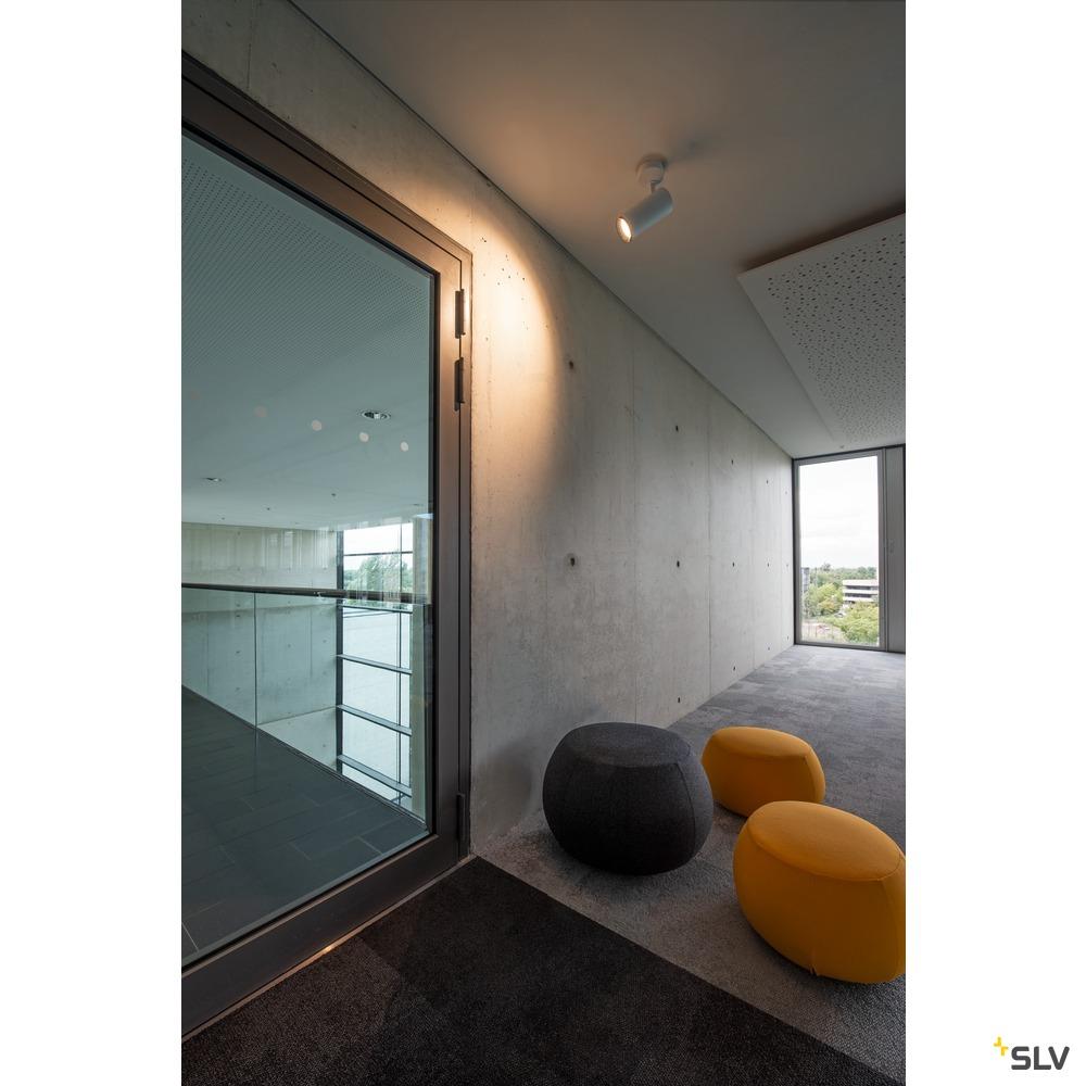 NUMINOS® SPOT DALI L, Indoor LED Deckenaufbauleuchte weiß/schwarz 4000K 60° weiß