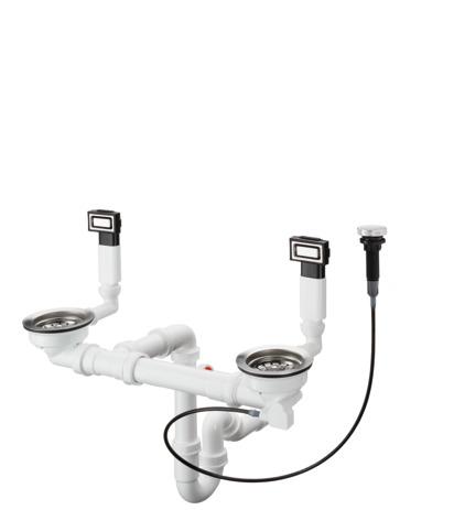 HG Ab- und Überlaufgarnitur  mit Excenterbedienung