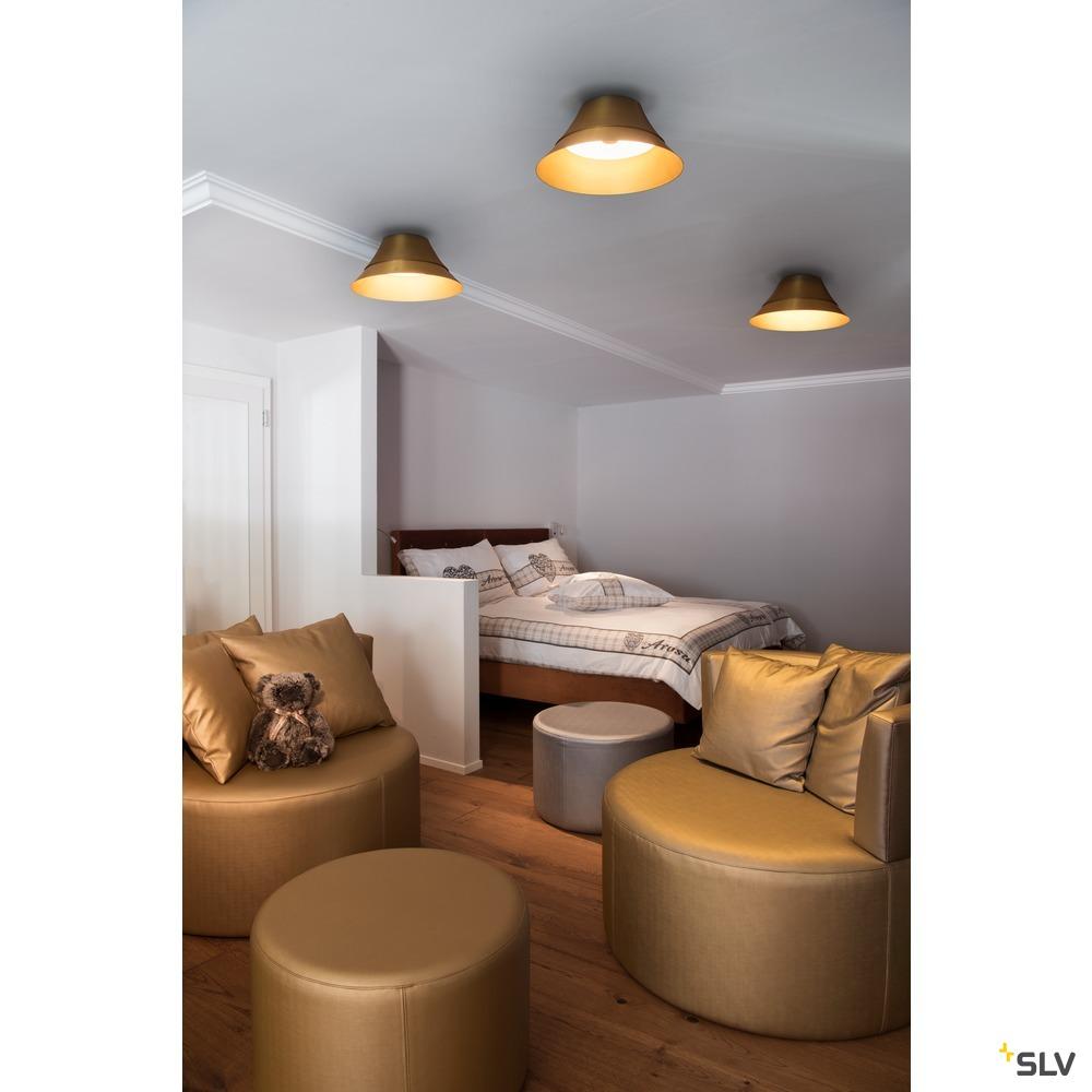 BATO 45 CW, LED Indoor Deckenaufbauleuchte,, messing, LED, 2500K weiß