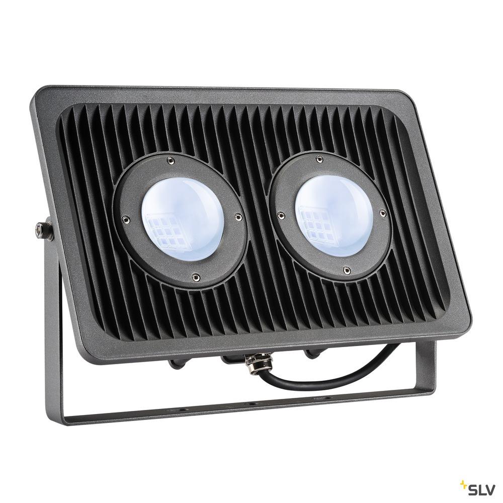MILOX 2, Outdoor Strahler, zweiflammig, LED, 4000K, IP55, anthrazit, 79W