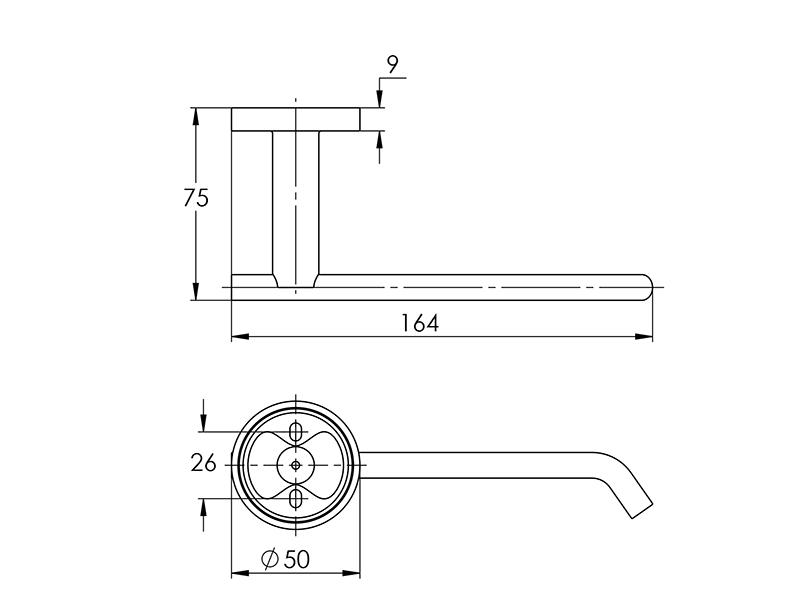 Treos Toilettenpapierhalter Serie 555