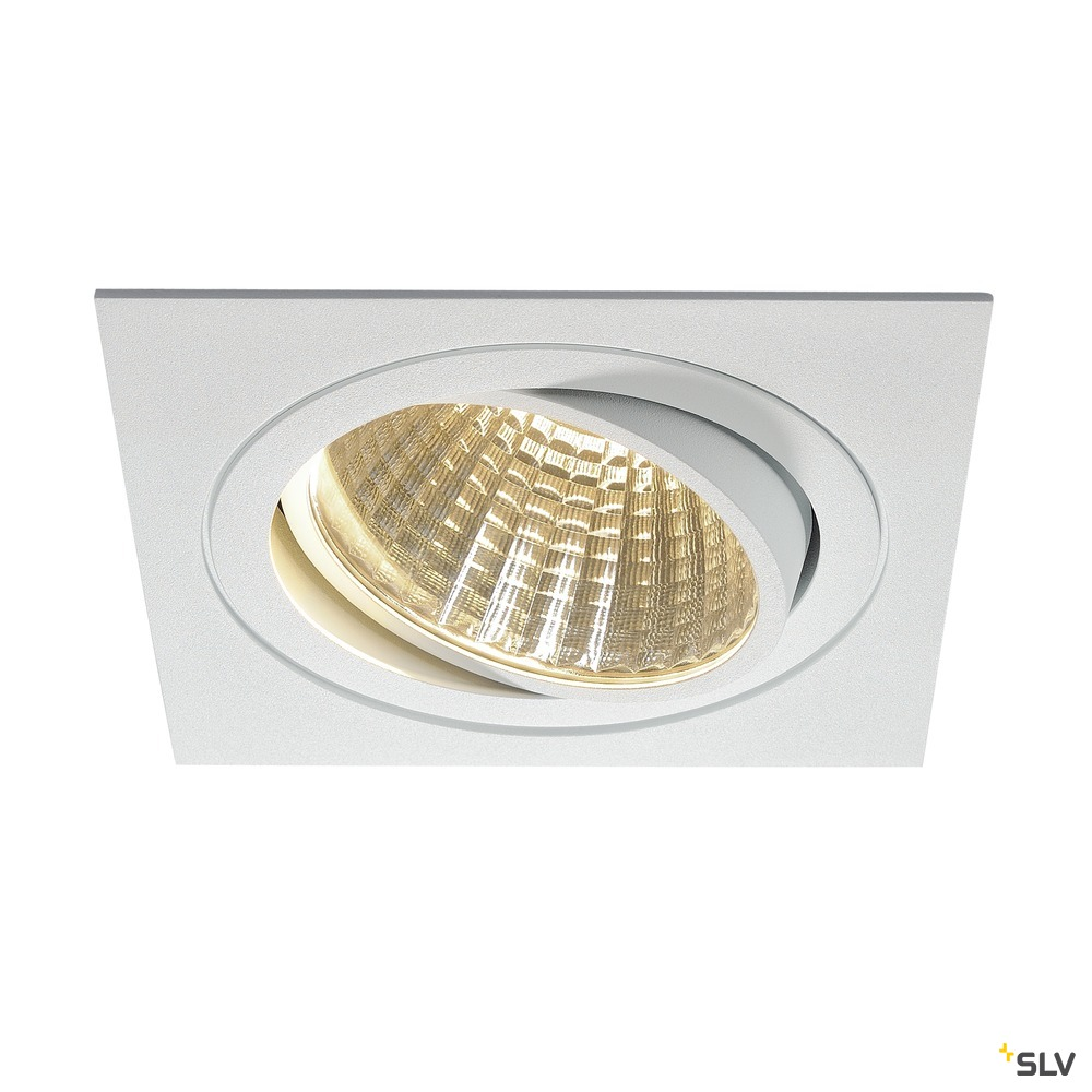 NEW TRIA 1 SET, Einbauleuchte, einflammig, LED, 3000K, eckig, weiß, 30°, 29W, inkl. Treiber, Clipfedern