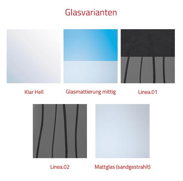 HSK Favorit Nova Badewannenaufsatz, 2-teilig - 1140 mm Links Weiß mit Stangengriff Linea.02 ohne Beschichtung exkl. Aufmaßservice