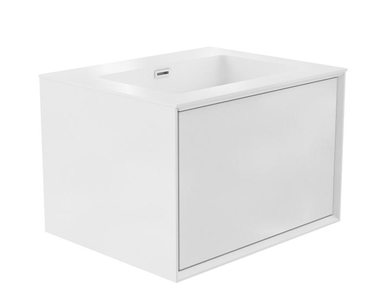 Treos Badmöbel ohne Hahnloch Farbe weiss,Front foak 597x484x407 mm
