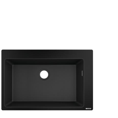HG Einbauspüle750 x 490 graphitschwarz