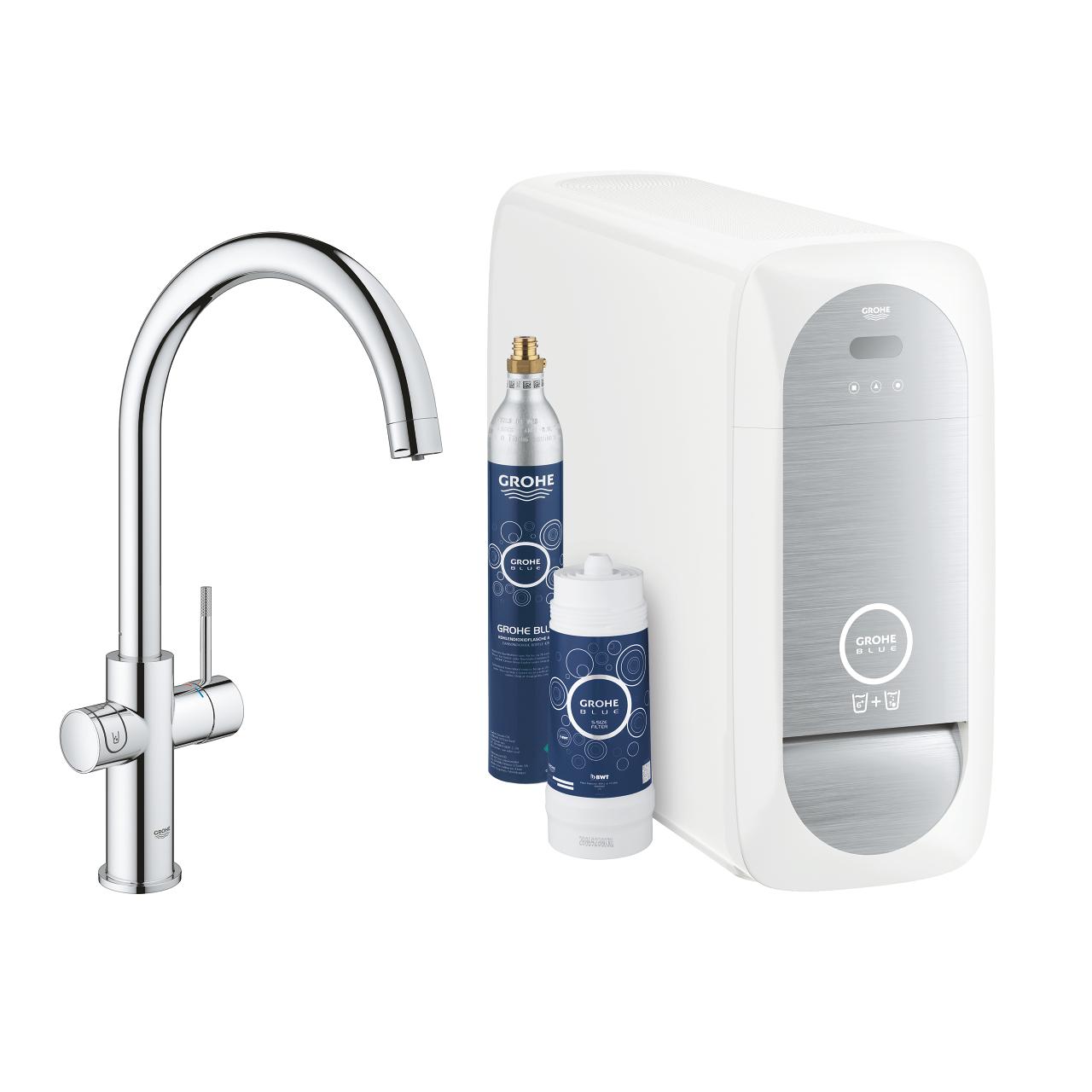 GROHE Blue Home Starter Kit L-Auslauf inkl. herausziehbarer Auslauf