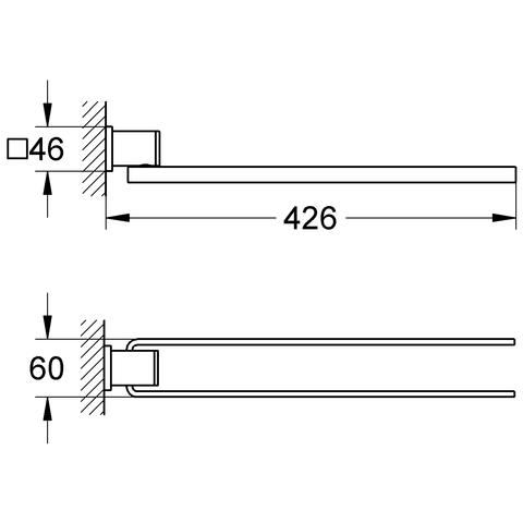 GROHE Handtuchhalter Allure 40342 2-armig chrom