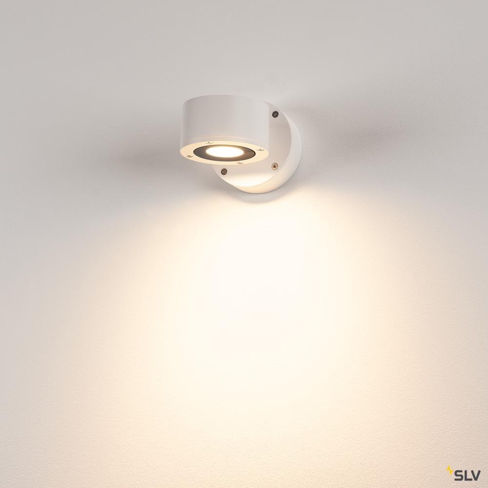 SITRA WL, LED Outdoor Wandaufbauleuchte, weiß, IP44, 3000K, 9W