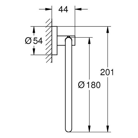 GROHE Handtuchring Essentials 40365_1 cool sunrise gebürstet