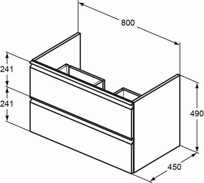 IS Möbelwaschtischunterschrank Connect E 800mm Goldeiche