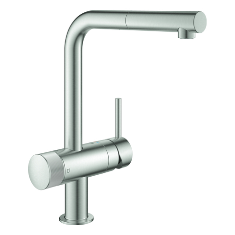 GROHE EH-SPT-Batterie GROHE Blue Pure Minta 31721 L-Auslauf supersteel