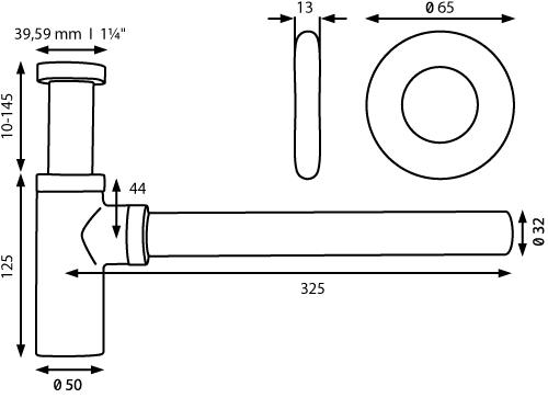 Thielsch Badkeramik Design-Siphon