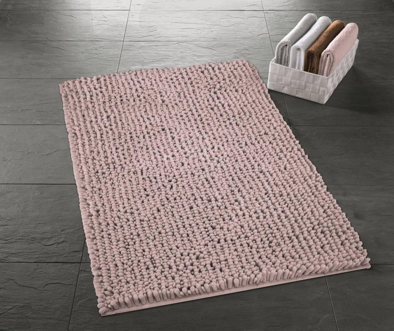 Badteppich Stella 100 % Polyester Sandbeige 50x 60 cm