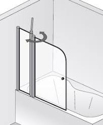 HSK Exklusiv Badewannenaufsatz mit Festelement - 1300 mm Rechts Weiß Klar Hell verspiegelt ohne Beschichtung exkl. Aufmaßservice