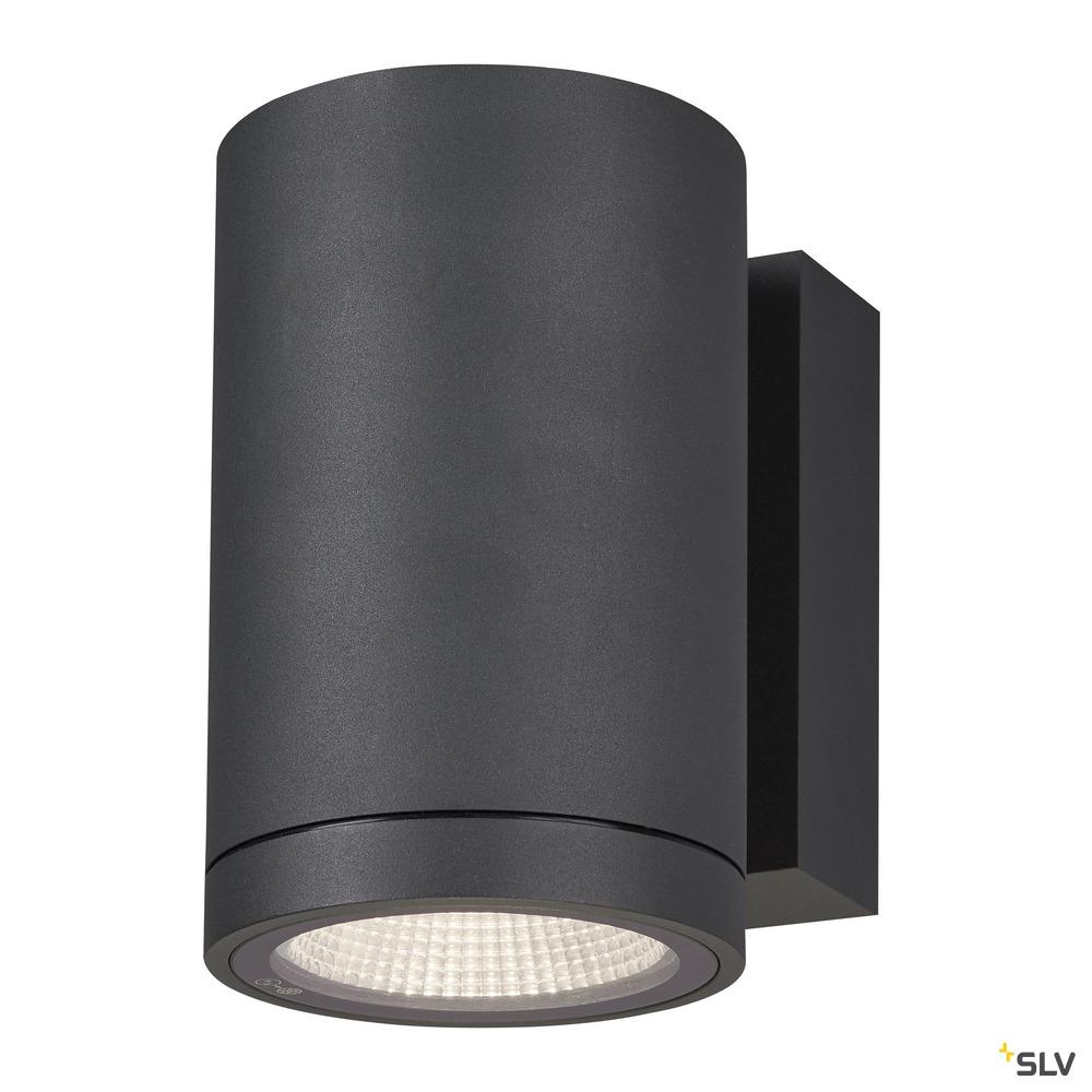 ENOLA ROUND M, single Outdoor LED Wandaufbauleuchte anthrazit