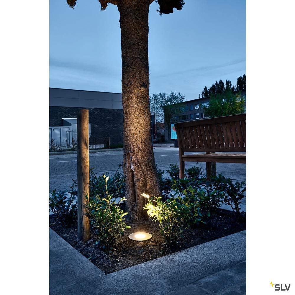 DASAR 150 PREMIUM, Outdoor Bodeneinbauleuchte, LED, 3000K, IP67, rund, edelstahl, 60°, Ø/H 14,8/11 cm, 13W