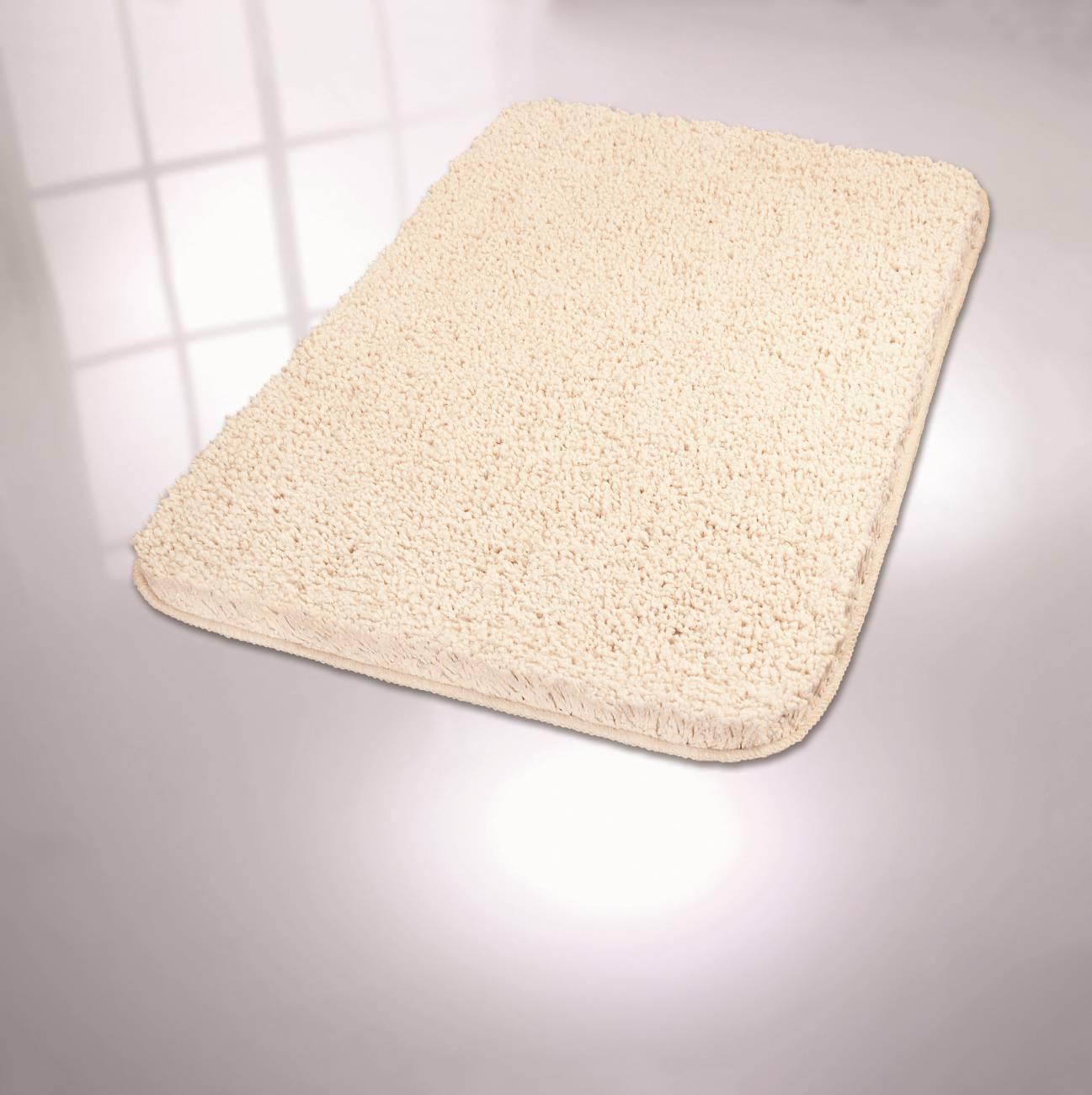 Badteppich Trend 100 % Polyester Rot 55x 65 cm