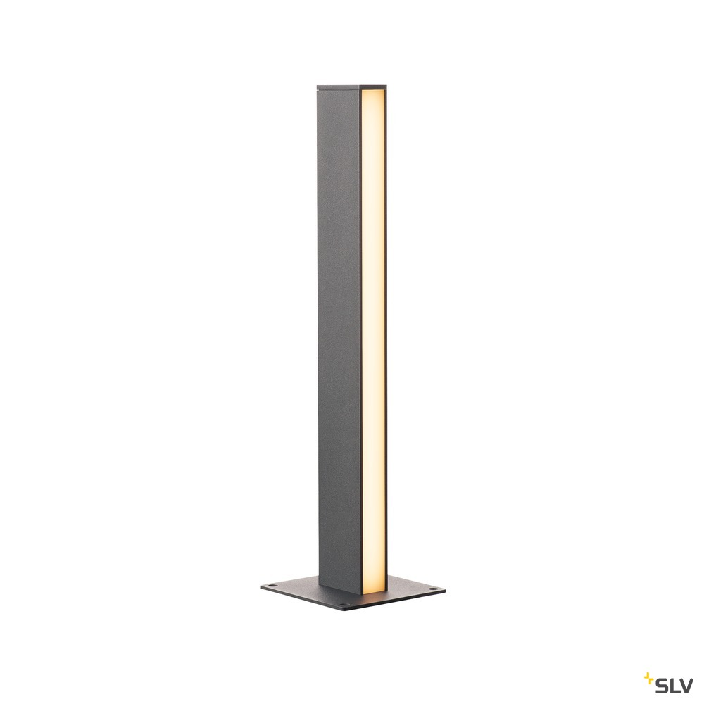 H-POL, Wege- und Standleuchte, zweiflammig, LED, 3000K, anthrazit, L/B/H 16,5/16,5/66 cm