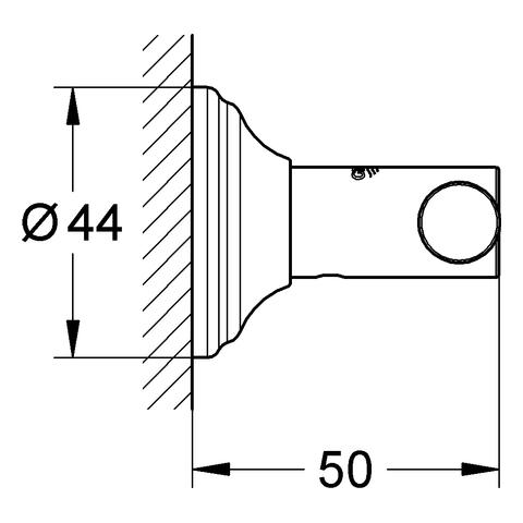 GROHE Bademantelhaken Essentials Authentic 40656_1 chrom