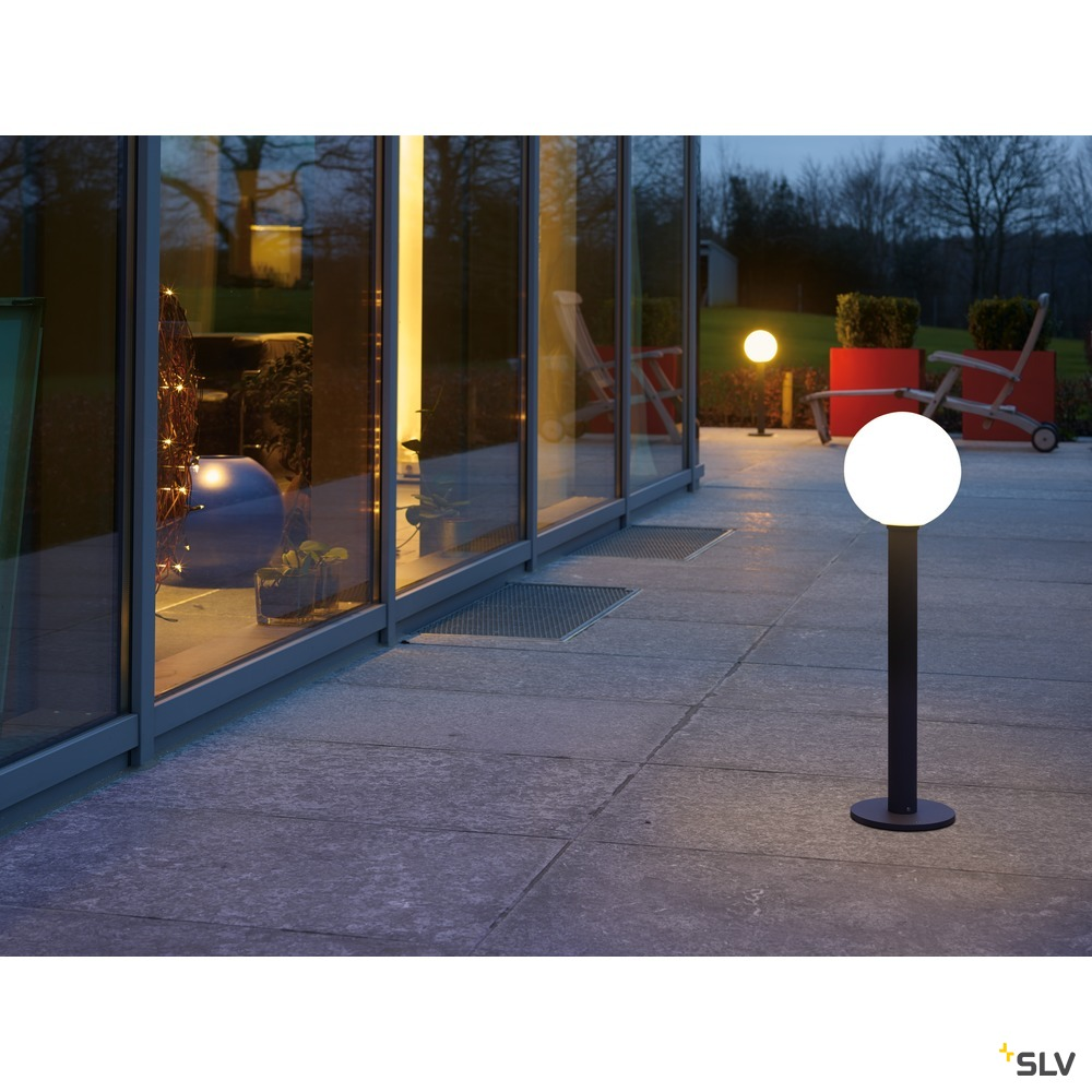 GLOO PURE 70 Pole, Outdoor Stehleuchte, E27, anthrazit, IP44